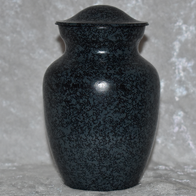 "<span style=""color: #000000;"">Blue Metal Urn"